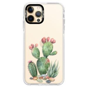 Silikonové pouzdro Bumper iSaprio - Cacti 01 na mobil Apple iPhone 12 Pro