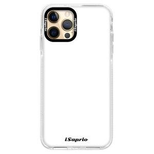 Silikonové pouzdro Bumper iSaprio - 4Pure - bílé na mobil Apple iPhone 12 Pro