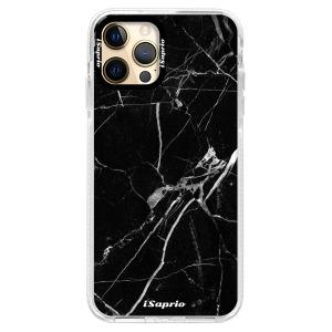 Silikonové pouzdro Bumper iSaprio - Black Marble 18 na mobil Apple iPhone 12 Pro Max