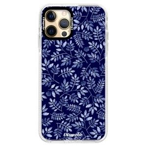 Silikonové pouzdro Bumper iSaprio - Blue Leaves 05 na mobil Apple iPhone 12 Pro Max