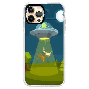 Silikonové pouzdro Bumper iSaprio - Alien 01 na mobil Apple iPhone 12 Pro Max
