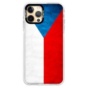 Silikonové pouzdro Bumper iSaprio - Czech Flag na mobil Apple iPhone 12 Pro Max