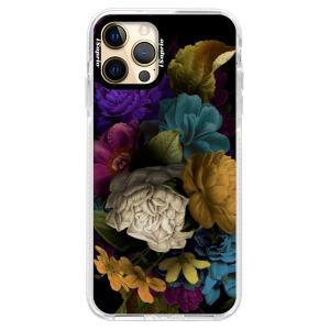 Silikonové pouzdro Bumper iSaprio - Dark Flowers na mobil Apple iPhone 12 Pro Max