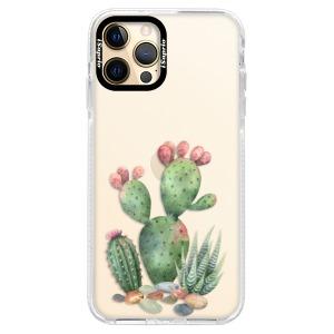 Silikonové pouzdro Bumper iSaprio - Cacti 01 na mobil Apple iPhone 12 Pro Max