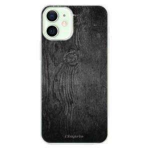 Odolné silikonové pouzdro iSaprio - Black Wood 13 na mobil Apple iPhone 12 Mini