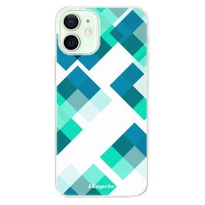 Odolné silikonové pouzdro iSaprio - Abstract Squares 11 na mobil Apple iPhone 12 Mini