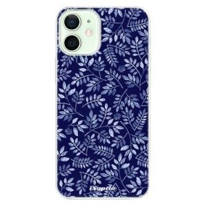 Odolné silikonové pouzdro iSaprio - Blue Leaves 05 na mobil Apple iPhone 12 Mini