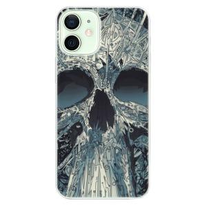 Odolné silikonové pouzdro iSaprio - Abstract Skull na mobil Apple iPhone 12 Mini