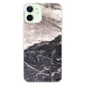 Odolné silikonové pouzdro iSaprio - BW Marble na mobil Apple iPhone 12 Mini