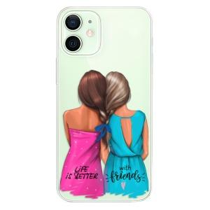 Odolné silikonové pouzdro iSaprio - Best Friends na mobil Apple iPhone 12 Mini