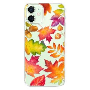 Odolné silikonové pouzdro iSaprio - Autumn Leaves 01 na mobil Apple iPhone 12 Mini