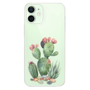 Odolné silikonové pouzdro iSaprio - Cacti 01 na mobil Apple iPhone 12 Mini