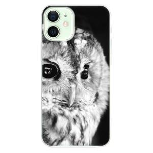 Odolné silikonové pouzdro iSaprio - BW Owl na mobil Apple iPhone 12 Mini