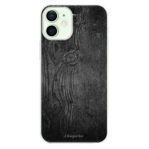 Odolné silikonové pouzdro iSaprio - Black Wood 13 na mobil Apple iPhone 12