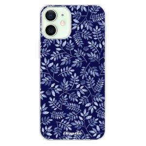 Odolné silikonové pouzdro iSaprio - Blue Leaves 05 na mobil Apple iPhone 12