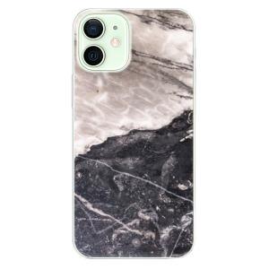 Odolné silikonové pouzdro iSaprio - BW Marble na mobil Apple iPhone 12