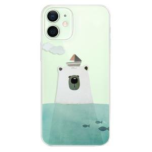 Odolné silikonové pouzdro iSaprio - Bear With Boat na mobil Apple iPhone 12