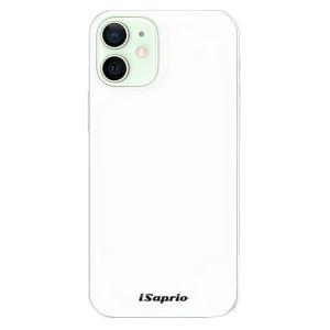 Odolné silikonové pouzdro iSaprio - 4Pure - bílé na mobil Apple iPhone 12