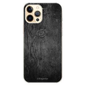 Odolné silikonové pouzdro iSaprio - Black Wood 13 na mobil Apple iPhone 12 Pro