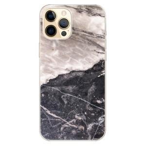 Odolné silikonové pouzdro iSaprio - BW Marble na mobil Apple iPhone 12 Pro