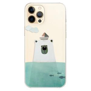 Odolné silikonové pouzdro iSaprio - Bear With Boat na mobil Apple iPhone 12 Pro