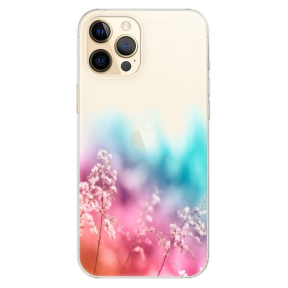 Odolné silikonové pouzdro iSaprio - Rainbow Grass - iPhone 12 Pro