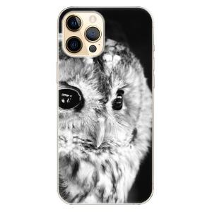 Odolné silikonové pouzdro iSaprio - BW Owl na mobil Apple iPhone 12 Pro
