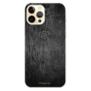 Odolné silikonové pouzdro iSaprio - Black Wood 13 na mobil Apple iPhone 12 Pro Max