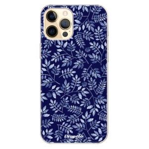 Odolné silikonové pouzdro iSaprio - Blue Leaves 05 na mobil Apple iPhone 12 Pro Max