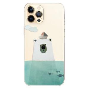 Odolné silikonové pouzdro iSaprio - Bear With Boat na mobil Apple iPhone 12 Pro Max