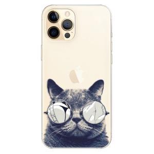 Odolné silikonové pouzdro iSaprio - Crazy Cat 01 na mobil Apple iPhone 12 Pro Max