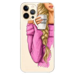Odolné silikonové pouzdro iSaprio - My Coffe and Blond Girl na mobil Apple iPhone 12 Pro Max