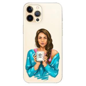 Odolné silikonové pouzdro iSaprio - Coffe Now - Brunette na mobil Apple iPhone 12 Pro Max