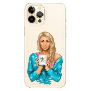 Odolné silikonové pouzdro iSaprio - Coffe Now - Blond na mobil Apple iPhone 12 Pro Max