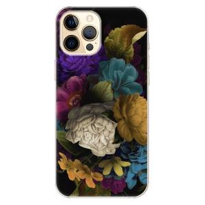 Odolné silikonové pouzdro iSaprio - Dark Flowers na mobil Apple iPhone 12 Pro Max