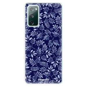 Odolné silikonové pouzdro iSaprio - Blue Leaves 05 na mobil Samsung Galaxy S20 FE / Samsung Galaxy S20 FE 5G