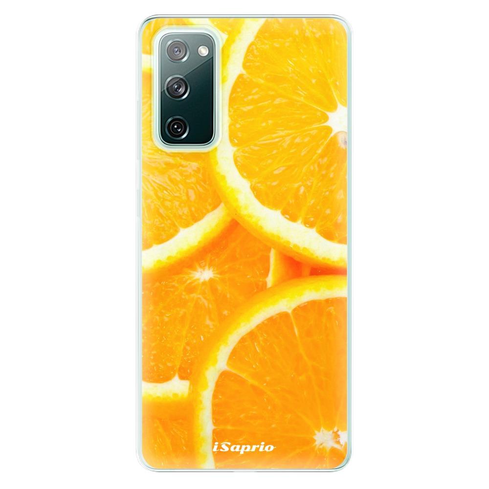 Odolné silikonové pouzdro iSaprio - Orange 10 - Samsung Galaxy S20 FE