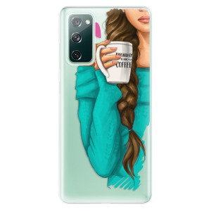 Odolné silikonové pouzdro iSaprio - My Coffe and Brunette Girl na mobil Samsung Galaxy S20 FE / Samsung Galaxy S20 FE 5G