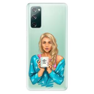 Odolné silikonové pouzdro iSaprio - Coffe Now - Blond na mobil Samsung Galaxy S20 FE / Samsung Galaxy S20 FE 5G