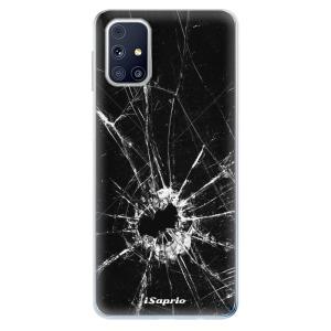 Odolné silikonové pouzdro iSaprio - Broken Glass 10 na mobil Samsung Galaxy M31s