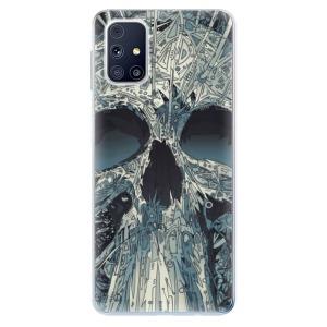 Odolné silikonové pouzdro iSaprio - Abstract Skull na mobil Samsung Galaxy M31s