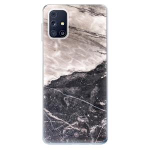 Odolné silikonové pouzdro iSaprio - BW Marble na mobil Samsung Galaxy M31s