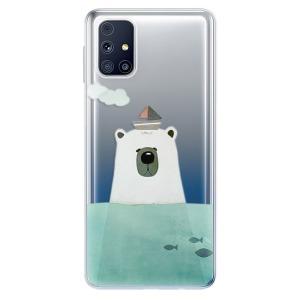 Odolné silikonové pouzdro iSaprio - Bear With Boat na mobil Samsung Galaxy M31s