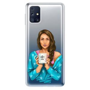 Odolné silikonové pouzdro iSaprio - Coffe Now - Brunette na mobil Samsung Galaxy M31s