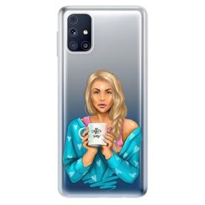 Odolné silikonové pouzdro iSaprio - Coffe Now - Blond na mobil Samsung Galaxy M31s