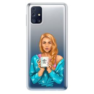 Odolné silikonové pouzdro iSaprio - Coffe Now - Redhead na mobil Samsung Galaxy M31s