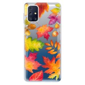 Odolné silikonové pouzdro iSaprio - Autumn Leaves 01 na mobil Samsung Galaxy M31s