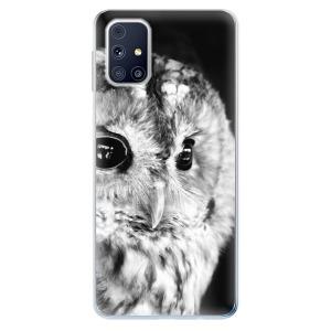 Odolné silikonové pouzdro iSaprio - BW Owl na mobil Samsung Galaxy M31s