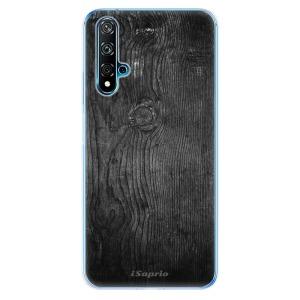 Odolné silikonové pouzdro iSaprio - Black Wood 13 na mobil Huawei Nova 5T / Honor 20