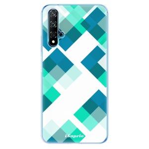 Odolné silikonové pouzdro iSaprio - Abstract Squares 11 na mobil Huawei Nova 5T / Honor 20